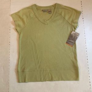 Ruff Hewn Top SZ M V Neck Cap Sleeves New with Tag